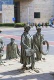 一个匿名路人的纪念碑,雕塑耶日Kalina,弗罗茨瓦夫,波兰 库存图片