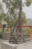 一个博物馆的处罚火葬用的柴堆在瓜纳华托州 免版税库存图片