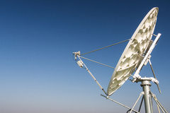 一个卫星盘抛物面天线 库存照片
