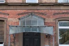 一个历史城市的门面和大厦在南德国与 免版税库存图片