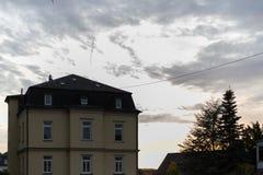 一个历史城市的门面和大厦在南德国与 图库摄影