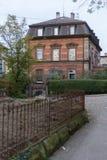 一个历史城市的门面和大厦在南德国与 库存照片
