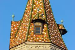 一个历史城市的facadess和屋顶在南德国 库存图片