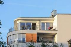 一个历史城市的facadess和屋顶在南德国 图库摄影