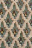 一个历史大厦的细节在卡萨布兰卡 免版税库存照片