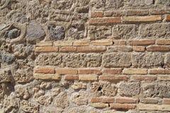 一个历史建筑的墙壁 免版税库存图片