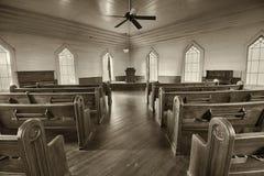 一个历史的教会的内部在多森的地标公园 免版税库存图片