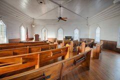 一个历史的教会,阿拉巴马的内部多森的 库存图片