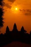 一个历史的高棉寺庙的古老废墟在寺庙compl的 免版税库存图片