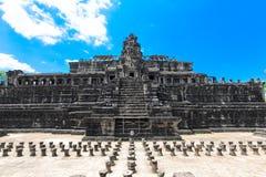 一个历史的高棉寺庙的古老废墟在寺庙compl的 图库摄影