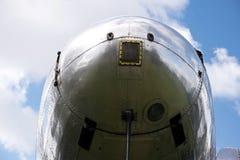 一个历史航空器的细节 免版税库存照片