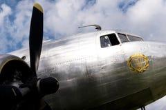 一个历史航空器的细节 库存照片