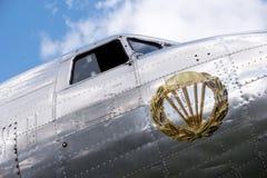 一个历史航空器的细节 库存图片