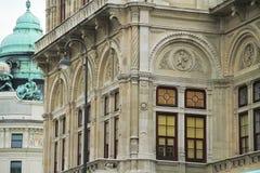一个历史建筑的地板与美好的建筑学的 库存照片