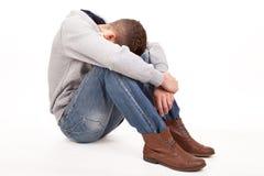 一个压抑年轻人 库存照片