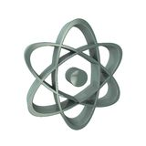3d原子标志 库存图片