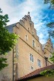 一个古典城堡门面 免版税库存图片