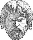 一个古典男性面具的传染媒介图画 图库摄影