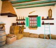 一个古国房子的室内设计 库存照片