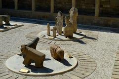 一个古城博物馆露天 历史的纪念碑 免版税库存照片