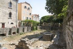 一个古城结构的残余 库存照片