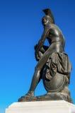 一个古希腊战士的雕象 图库摄影