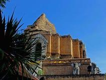 一个古庙的废墟在张mai 泰国 免版税库存照片