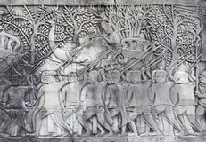 一个古庙的浅浮雕 图库摄影