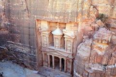 一个古庙,约旦的遗骸在Petra的 免版税图库摄影