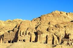 一个古庙,约旦的遗骸在Petra的 免版税库存照片