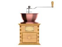 一个古板的磨咖啡器的特写镜头 皇族释放例证