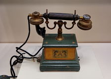 一个古老中国电话 免版税库存图片