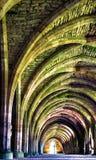 一个古老修道院的内部图象 免版税库存图片