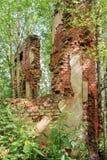 一个古老修道院的废墟 库存图片
