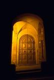 一个古老修道院的门道入口,圣卢卡-波隆纳 免版税库存照片