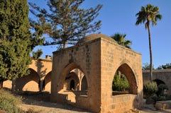 一个古老修道院Ayia Napa的庭院 图库摄影