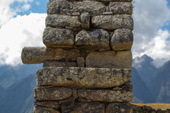 一个古老印加人石工大厦的元素 库存图片