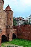 一个古老城堡堡垒的废墟 免版税库存图片