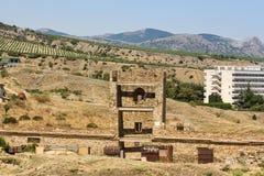 一个古老堡垒塔 免版税库存图片