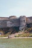 一个古老堡垒的塔 免版税图库摄影