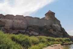 一个古老堡垒的塔 免版税库存图片