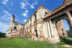 一个古老堡垒的废墟 免版税库存图片