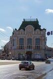一个古老大厦在下诺夫哥罗德 免版税库存图片
