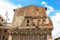 一个古老大厦的外壁 意大利罗马 图库摄影