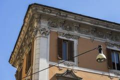 一个古老大厦的建筑细节 免版税图库摄影