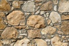 一个古老大厦的老石墙 免版税图库摄影
