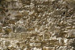 一个古老大厦的老石墙 库存图片