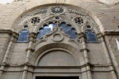 一个古老大厦的细节在佛罗伦萨,意大利 免版税图库摄影
