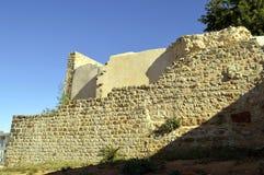 一个古老大厦的Querenca老历史废墟 图库摄影