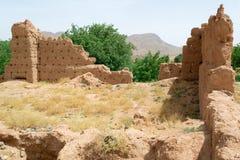 一个古老房子的废墟在摩洛哥 库存照片